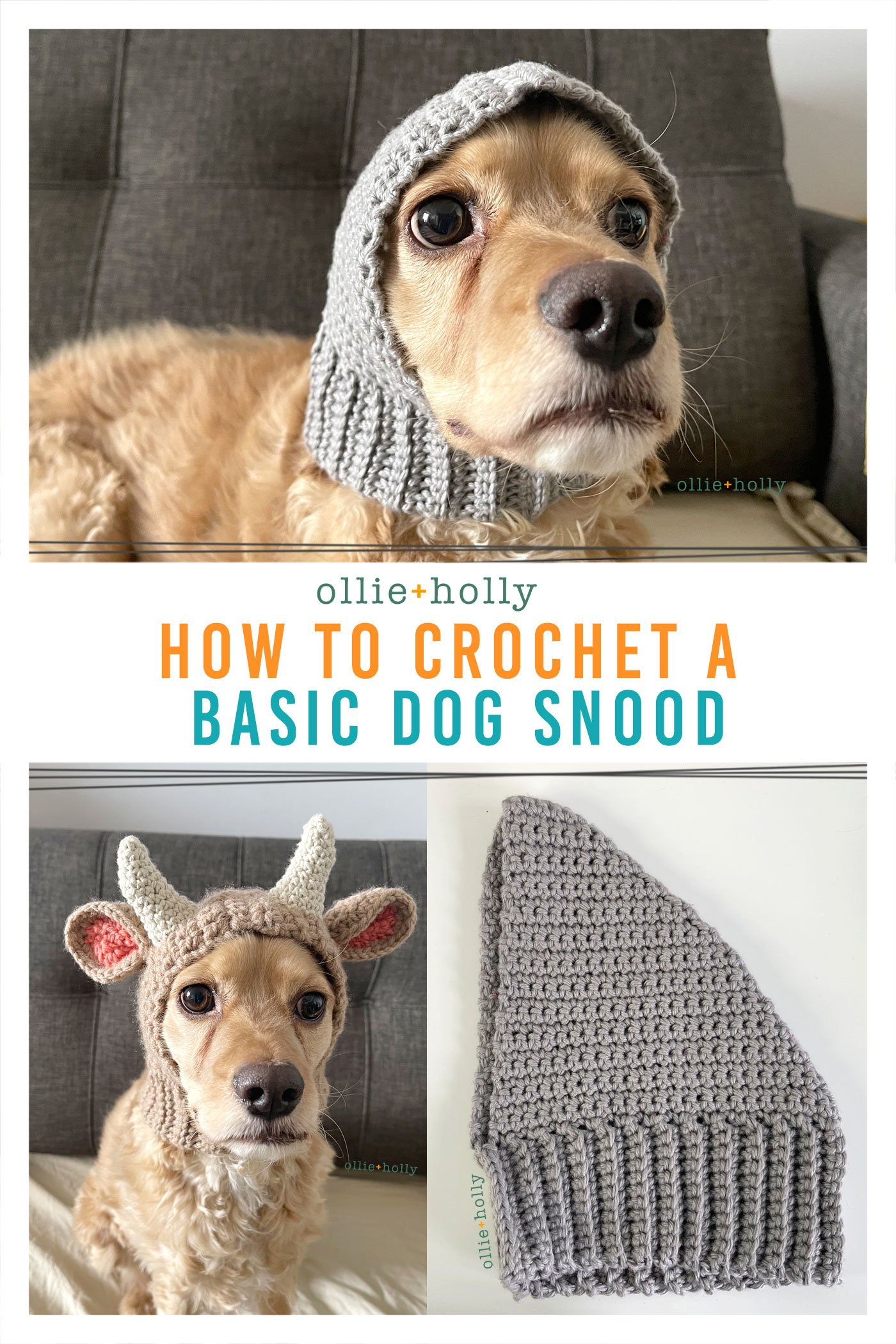 How To Crochet A Basic Dog Snood Pattern