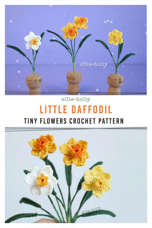 Little Daffodil Tiny Flower Crochet Pattern