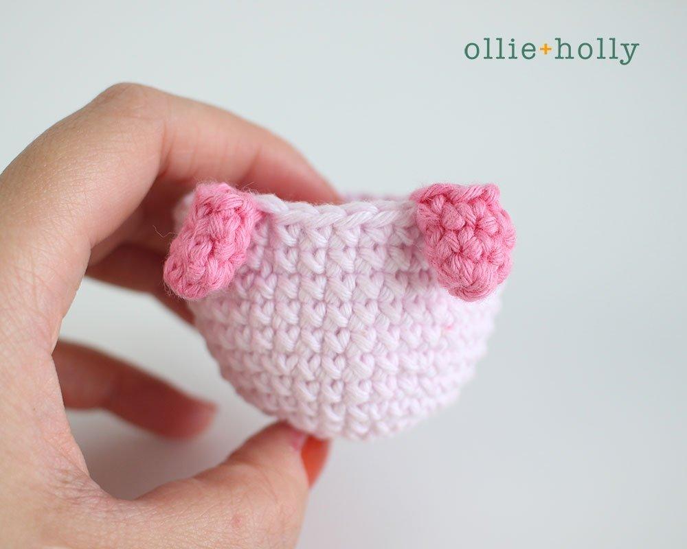 Free Onigiri The Stuffed Panda Bear Bean Amigurumi Crochet Pattern Step 11