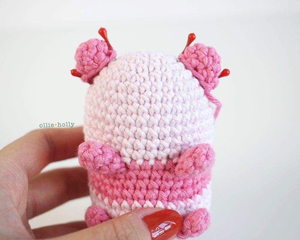 Free Onigiri The Stuffed Panda Bear Bean Amigurumi Crochet Pattern Step 16