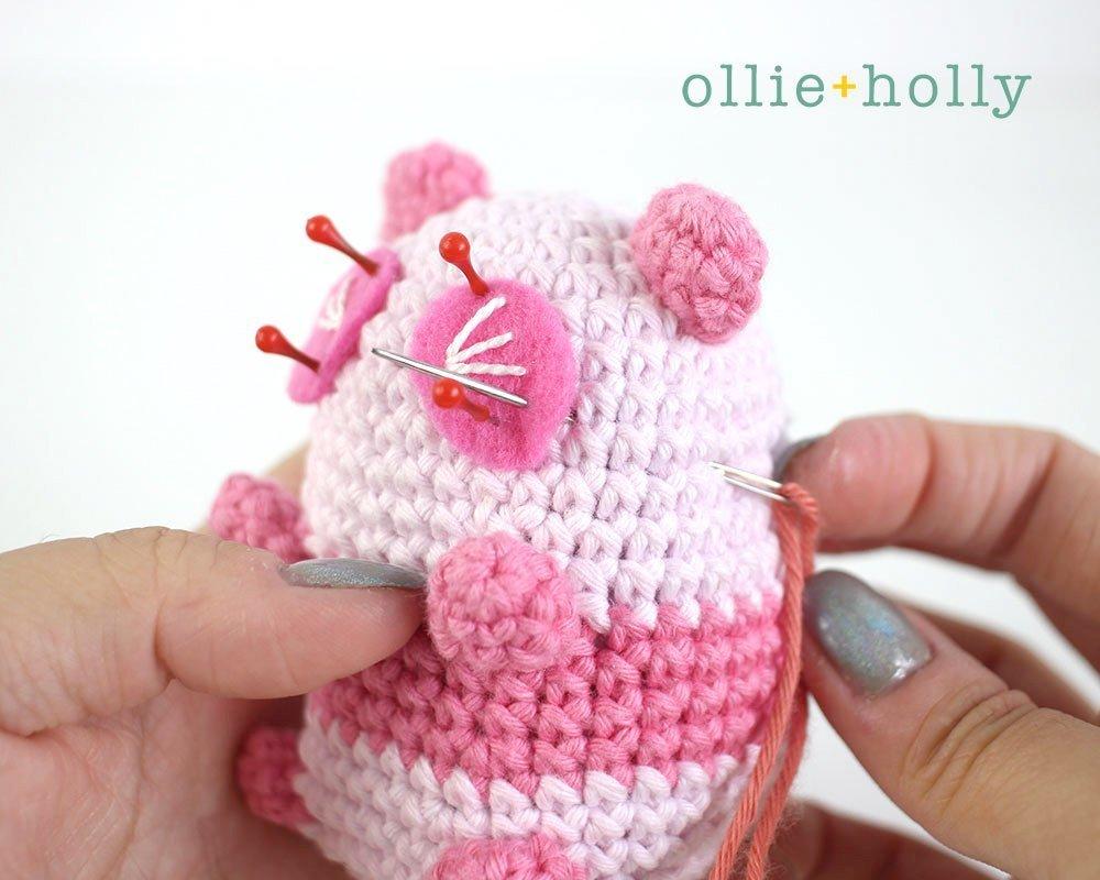 Free Onigiri The Stuffed Panda Bear Bean Amigurumi Crochet Pattern Step 21
