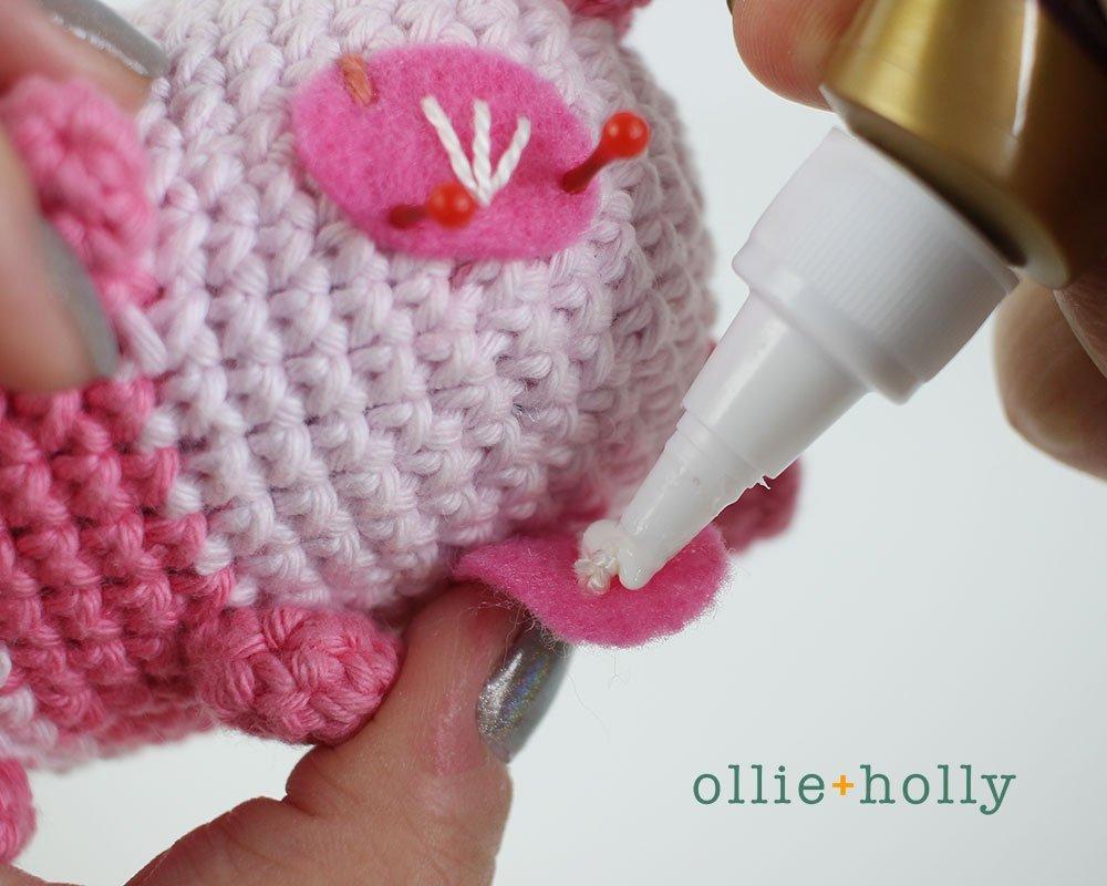 Free Onigiri The Stuffed Panda Bear Bean Amigurumi Crochet Pattern Step 23