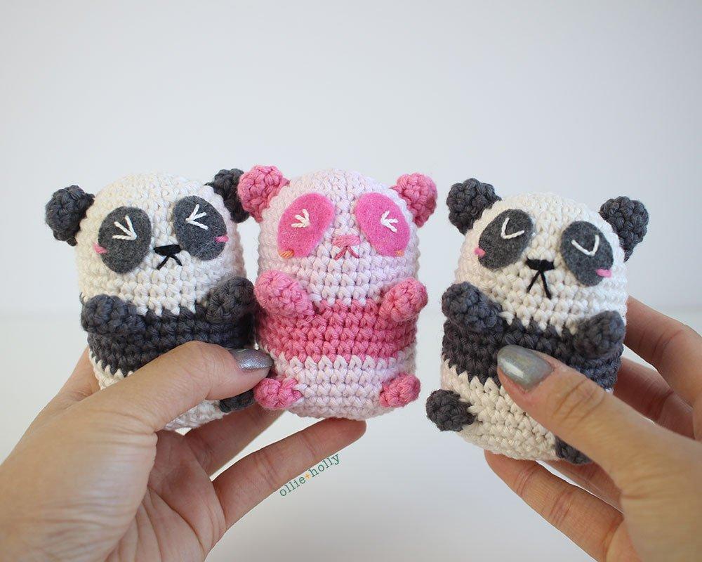 Free Onigiri The Stuffed Panda Bear Bean Amigurumi Crochet Pattern Complete
