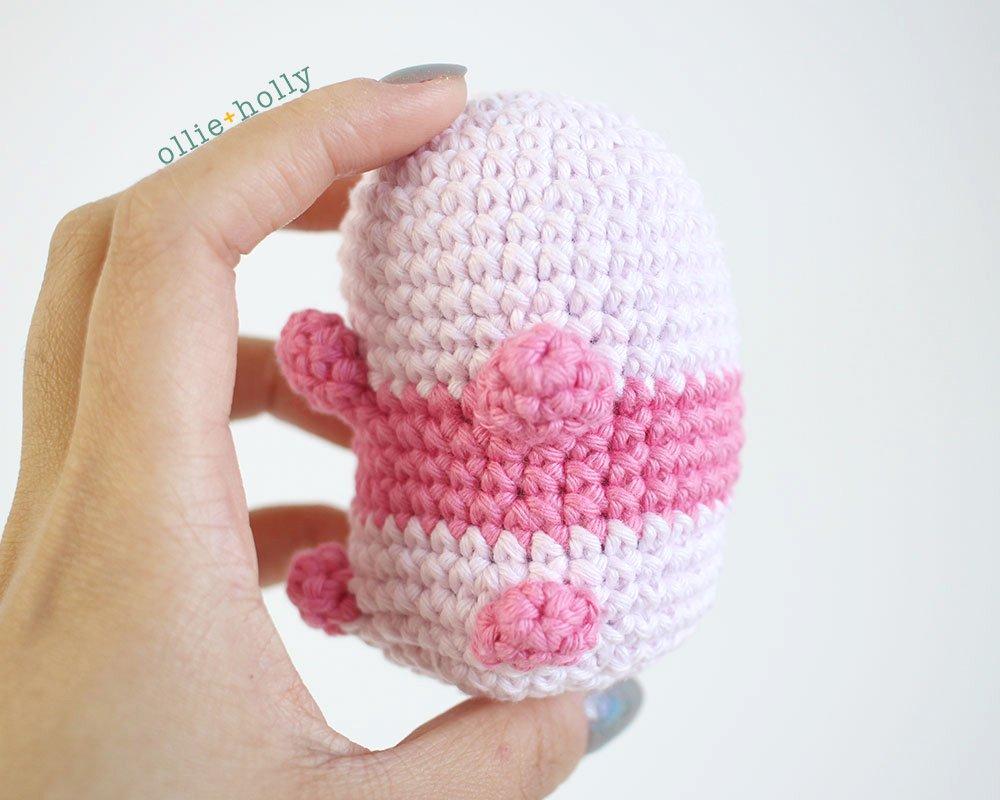 Free Onigiri The Stuffed Panda Bear Bean Amigurumi Crochet Pattern Step 13