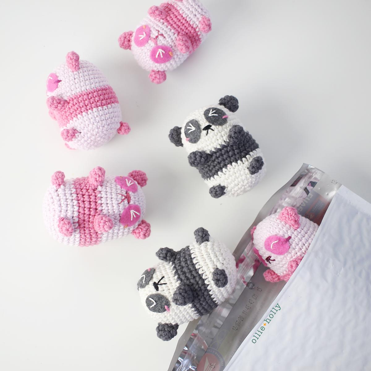 Free Onigiri The Stuffed Panda Bear Bean Amigurumi Crochet Pattern Multiple