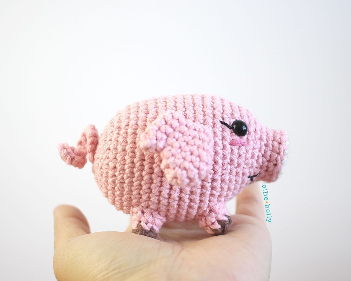 Free Little Piggy Stuffed Animal Amigurumi Crochet Pattern Step 13