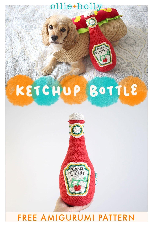 Free Ketchup Bottle Plushie Amigurumi Crochet Pattern
