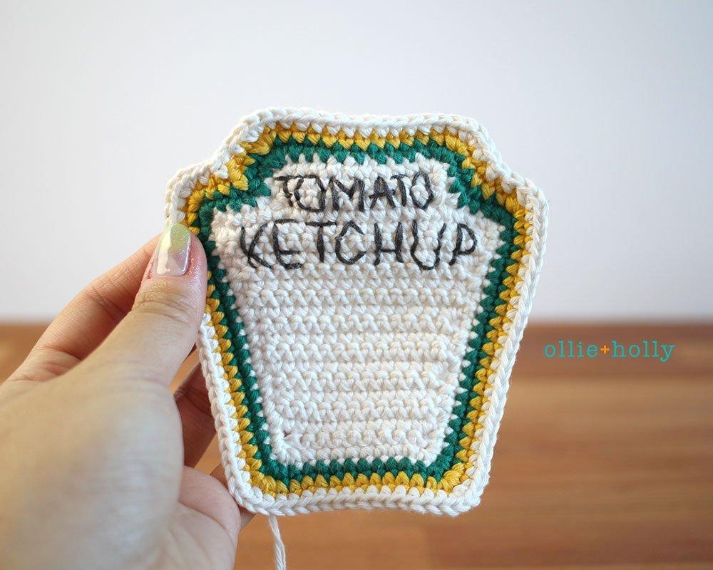 Free Ketchup Bottle Amigurumi Crochet Plushie Pattern Step 6