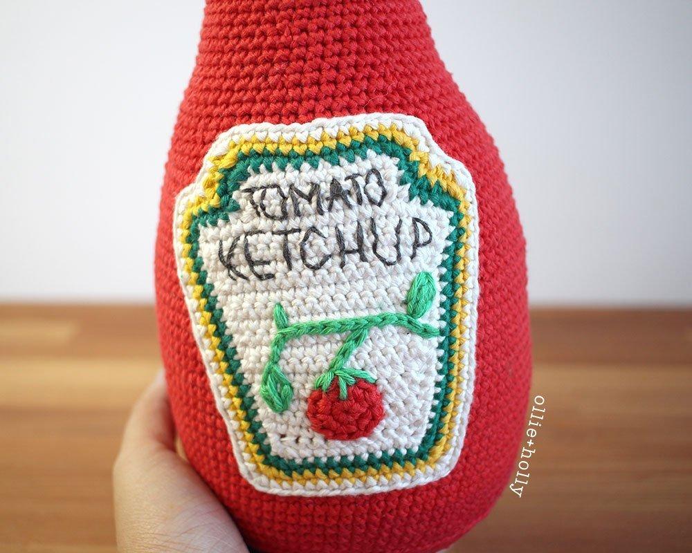Free Ketchup Bottle Pillow Amigurumi Crochet Pattern Step 12