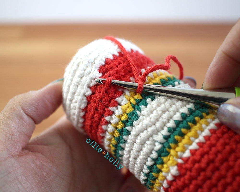 Free Ketchup Bottle Plushie Amigurumi Crochet Pattern Part 14