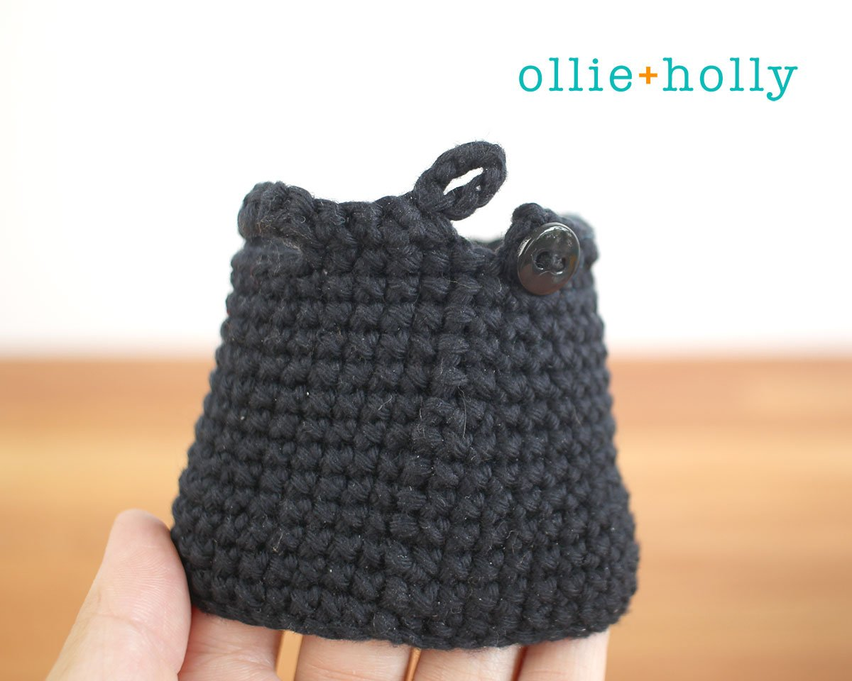 Free Witch Halloween Costume for Bernadette the Bear Stuffed Animal Amigurumi Crochet Pattern Step 13