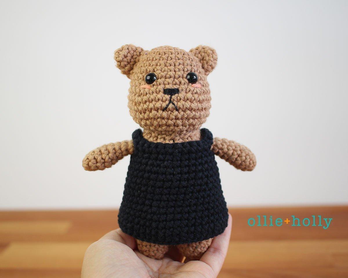 Free Witch Halloween Costume for Bernadette the Bear Stuffed Animal Amigurumi Crochet Pattern Step 25