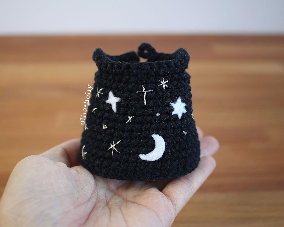 Free Witch Halloween Costume for Bernadette the Bear Stuffed Animal Amigurumi Crochet Pattern Step 14